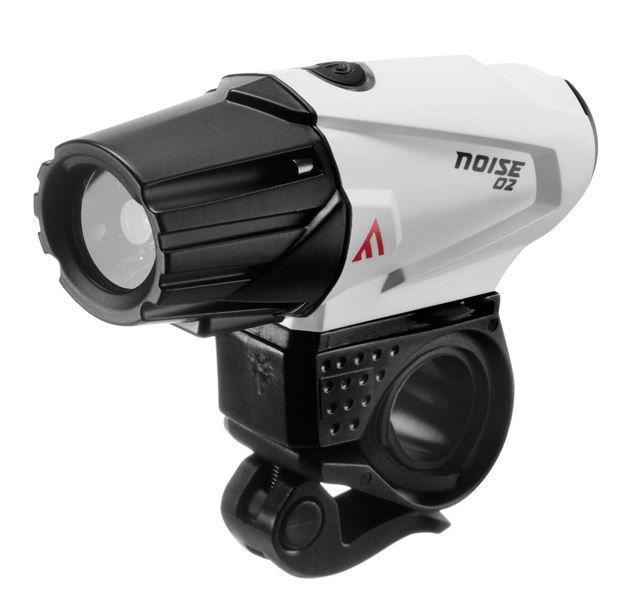 Lampa rowerowa, ładowalna przednia na kask Mactronic Noise 02 o mocy 500 lm