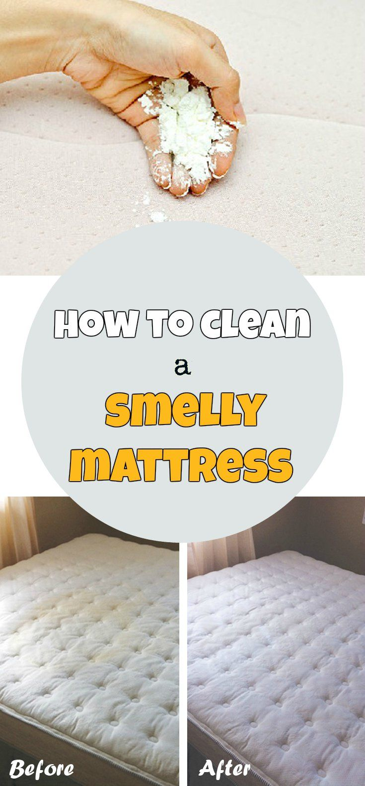 How to clean a smelly mattress DIY cleaning products