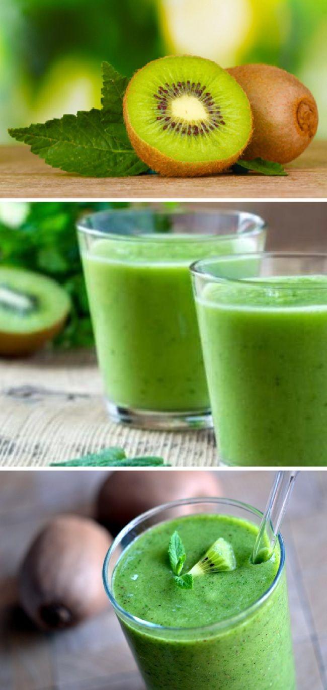 Anticellulite Smoothie Green Tea, Kiwi and Lemon