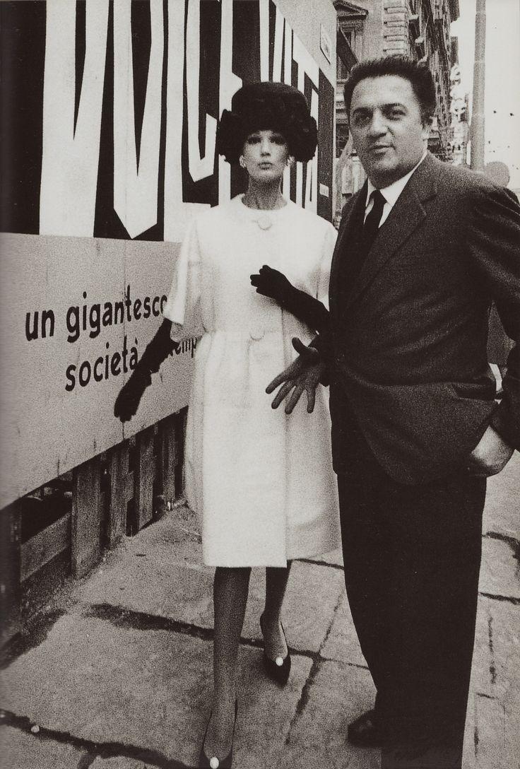 High fashion & FELLINI photo by WILLIAM KLEIN 1960 La Dolce Vita poster from Dolce Vita Style by Jean-Pierre Dufreigne (minkshmink)