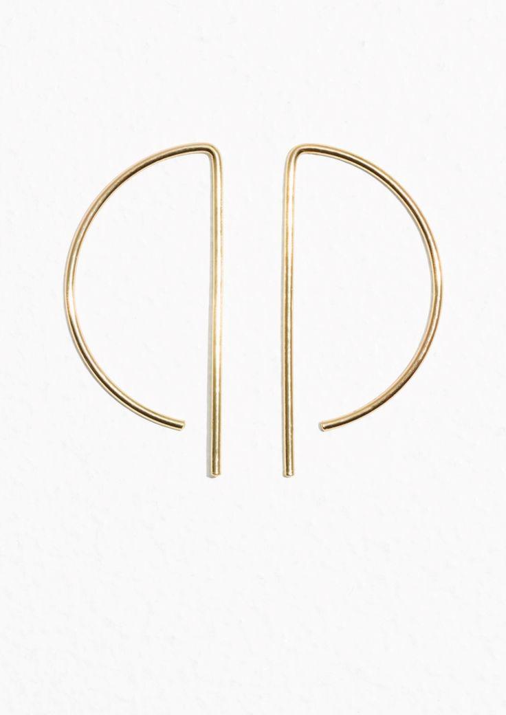 & Other Stories Geometric Hoop Earrings in Gold