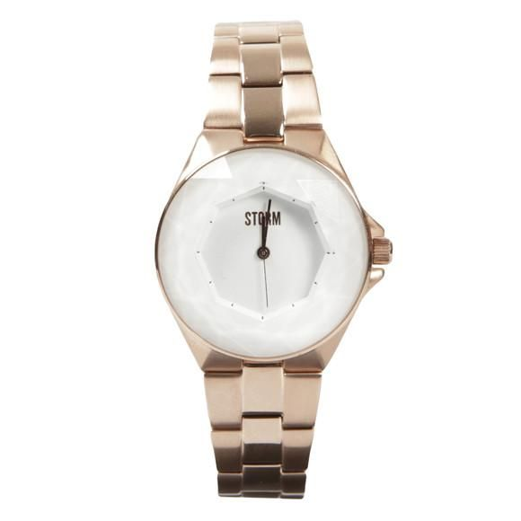 Storm Chrystana Rose Gold. A gorgeous rose-gold coloured watch with white cut glass dial, from the makers of beautiful, iconic watches STORM London. Now reduced. Was £139, Now £119 From Jools