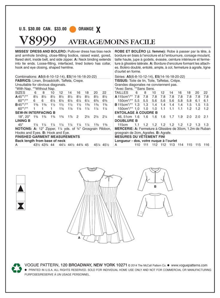 Tipare de croitorie Vogue