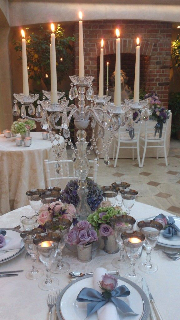 Vintage Glam · Wedding ReceptionsReception IdeasRound Table CenterpiecesCandelabra  ...