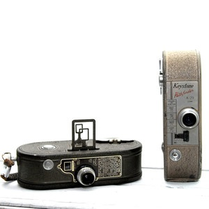 Keystone 8mm Movie Camera Pair, 95€, now featured on Fab.