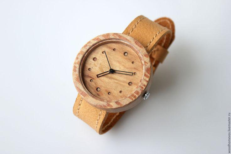 Купить Наручные часы из дерева (платан) - комбинированный, платан, карельская береза, часы