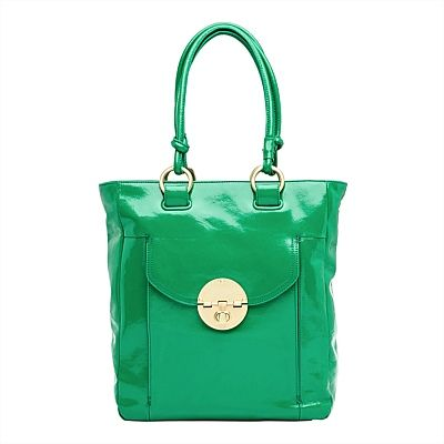 A signature Mimco piece, the Turnlock Shopper Tote is polished and refreshed in our latest emerald hue.