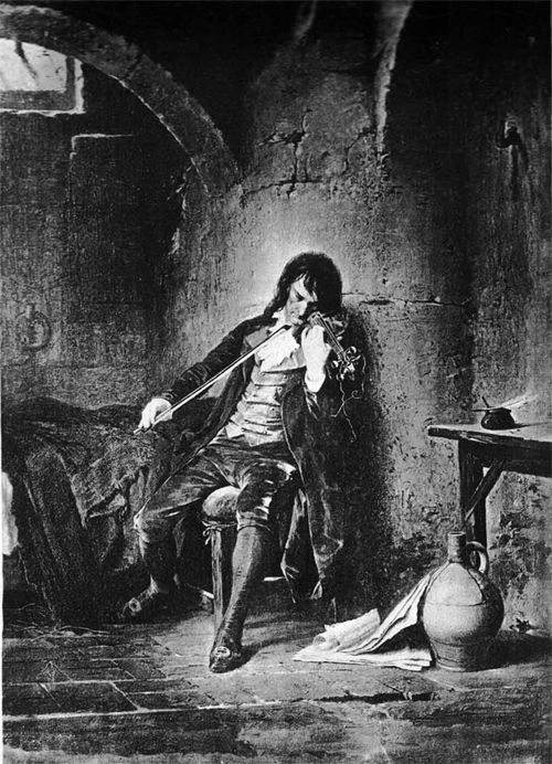 He closed his eyes in ecstasy. His heart was filled with joy. #Paganini #Violin http://amzn.to/Ri7TR5