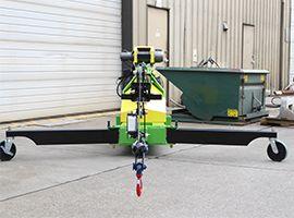 Portable floor crane.