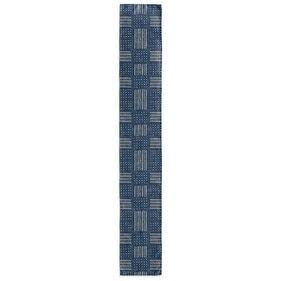 Kavka Designs Indigo (Blue) Basin Table Runner Becky Bailey (Indigo - Polyester - Transitional/Contemporary/Southwestern)