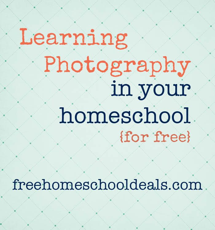 Learning photography in your homeschool