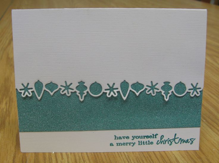 Meghan's February Card Class at The Paperie, featuring the Memory Box Ornament Border Die.