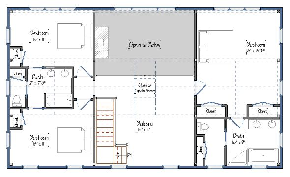 The Suffolk Level Two Floor Plans