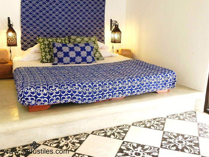 Sadus tiles handmade cement tiles motif K-80 from Bali-Indonesia