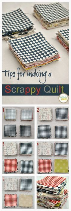 An easy way to shuffle your scraps so you don't have to stress over which scrap to use next in a scrappy quilt