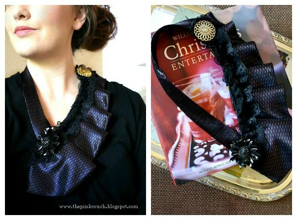 Another amazing idea from Tara   the pink couch: Sweet November: Tie Necklace Tutorial
