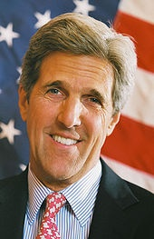 John Kerry...saw him in Sturbridge at the Host Hotel ..smiled and said hi to me... wow he was handsome!