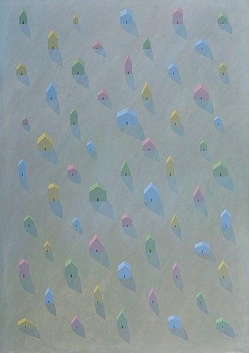 "KRISTIAN KROKFORS, ""CLOSE"". Sign. 2001. Oil on canvas"