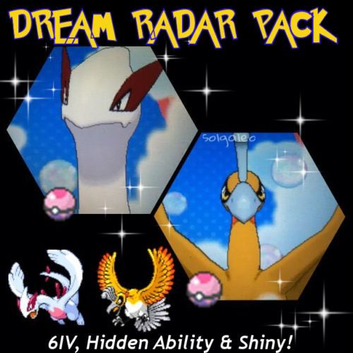For sale is this guide which will guarantee you obtain the Dream Radar Hidden Ability Lugia & Ho-oh! Feel free to message me if you have any questions! Each Pokemon will be: - Shiny - 6IV -EV trained - Pokemon Bank compatible - Battle/Trade compatible -Battle Ready   Important Information:  - These Pokémon can only be obtained with Pokemon ORAS and an internet connection.  - You will need to have 2 unneeded Pokemon.  - Upon purchase, message me your friend code and trainer name…