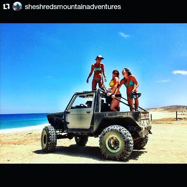 Check out our Surf clothing here! http://ift.tt/1T8lUJC #prohoe tip baja edition.. Take photos when your told to take photos. #Repost @sheshredsmountainadventures with @repostapp  Laughing is the best.  @russ.mclaughlin #babesinbaja #surflife #surf #baja #bajamexico #mexico #toyotabuiltnotbought #suzuki #samurai #suzukisamurai #toyota @toyotabc @georgiaface1 @katiebosken