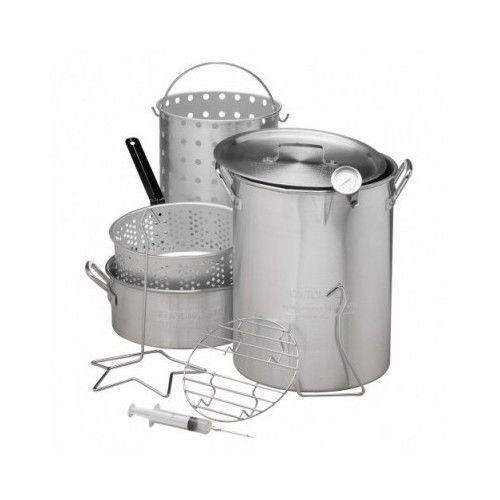 30 QT Deep Turkey Fryer Pot Kit Wings Fish Baskets Outdoor Propane Stockpot NEW ** You can get more details by clicking on the image.