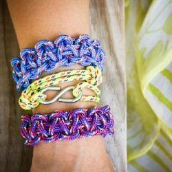 DIY Utility Cord bracelets - a splash of neon and fun for summer!