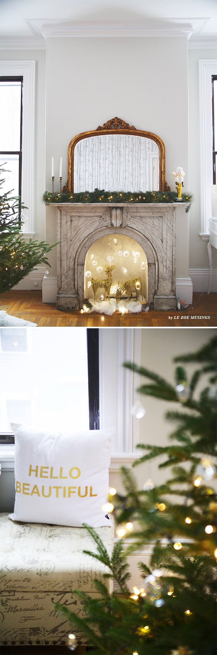 New DiY Holiday Mantel by Le Zoe Musings Charlie Brown WeihnachtsbaumFrohe WeihnachtenK nstliche