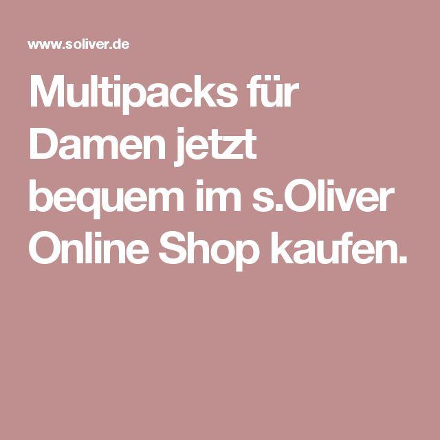Multipacks für Damen jetzt bequem im s.Oliver Online Shop kaufen.