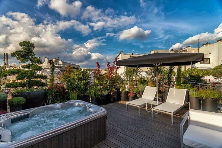 Spa, luxe et jacuzzi à l'hôtel Félicien, Paris,  http://journalduluxe.fr/hotel-felicien-haute-couture/