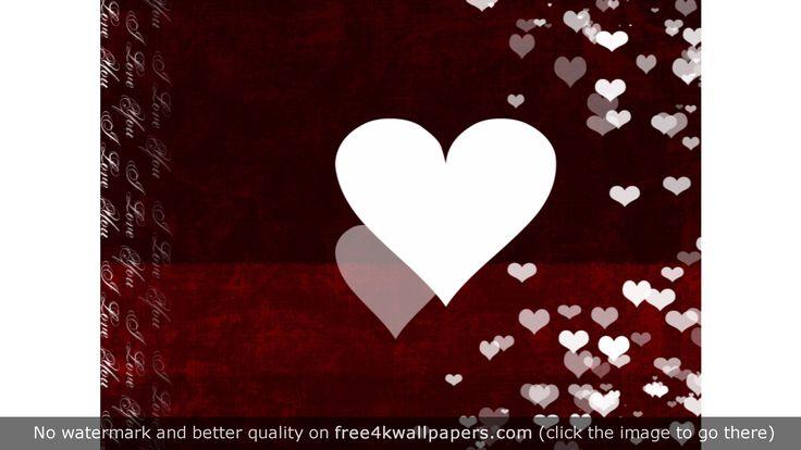 White Heart Love wallpaper