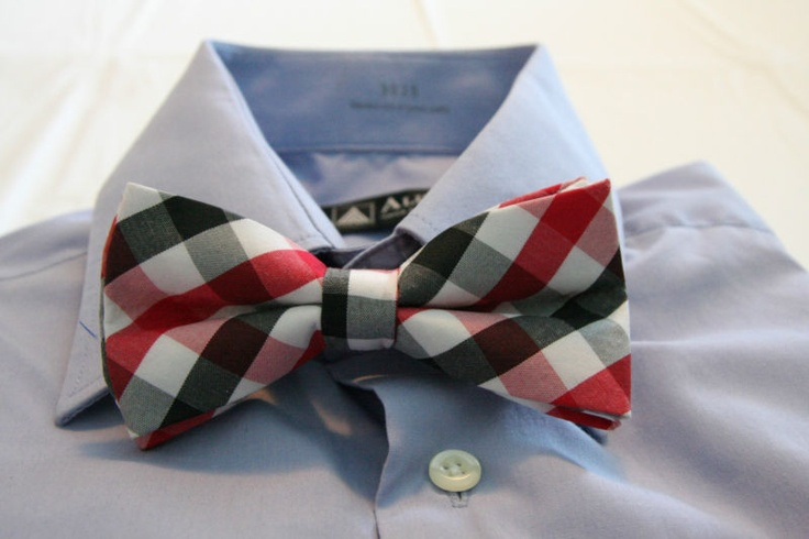New Arrivals Bow Tie: Red and Black check adjustable strap bowtie - CHRISTIANTO | eBay