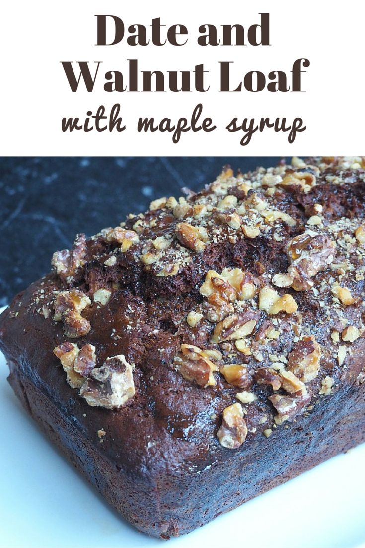 Dates, walnuts and maple syrup, it's the loaf trifecta! http://www.theannoyedthyroid.com/2016/08/11/date-and-walnut-loaf-with-maple-syrup/