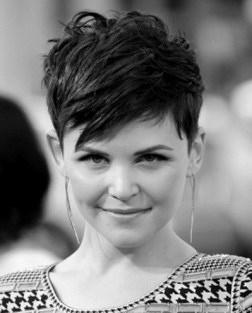 Ginnifer Goodwin Wish I could look this cute with a pixi cut.