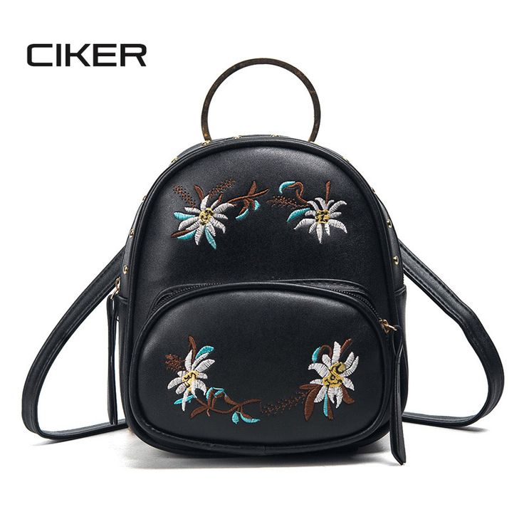 Cheap backpack school bag, Buy Quality school bags for teenagers directly from China bags for teenagers Suppliers: CIKER Embroidery Backpack Fashion Floral PU leather Backpack School Bags For Teenage Girls Ladies Small Travel Backbag Mochila