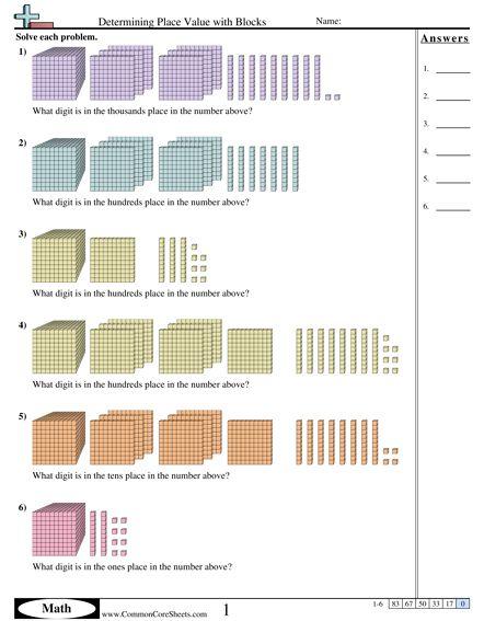 place value block worksheets thousands value place. Black Bedroom Furniture Sets. Home Design Ideas