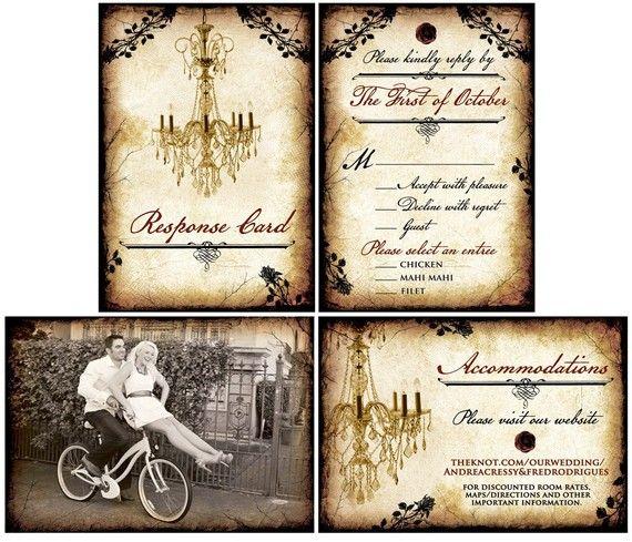 GREAT PRICE~Vintage Wedding Invitation Set / Vintage by mybigdaydesigns, $2.75
