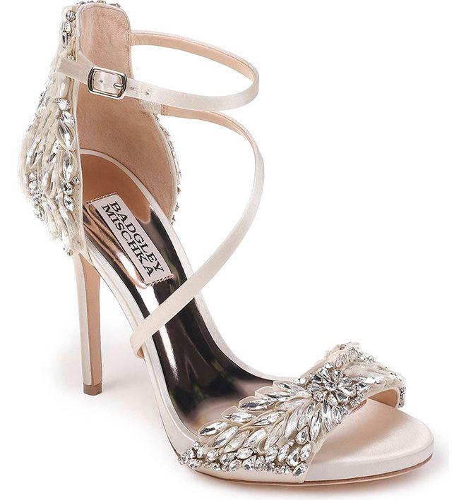 Wedding shoes comfortable heels, Bride