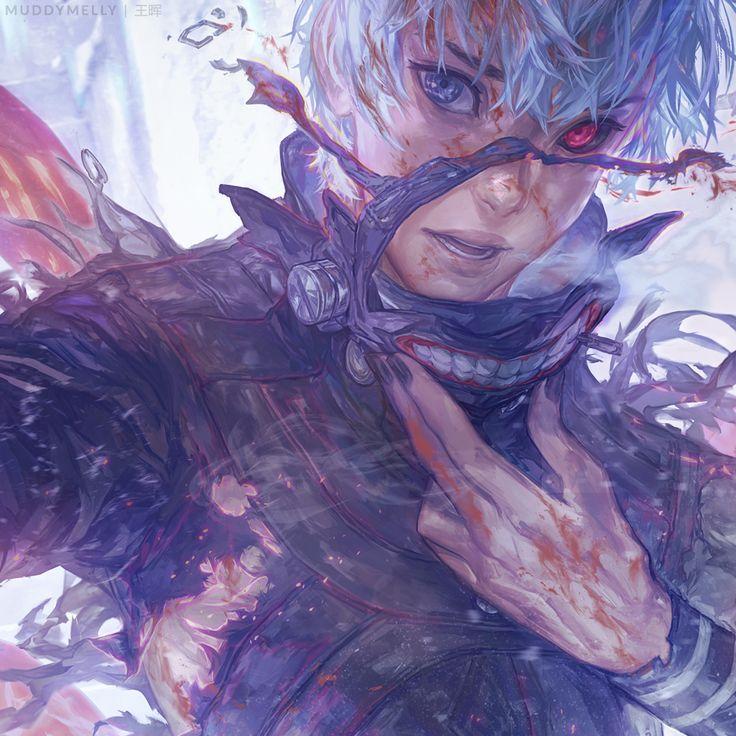 Kaneki (looking like Jack Frost imo)
