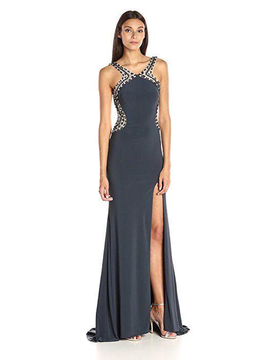 JVN by Jovani Women s Open Back Jersey Prom Gown d62e3477f