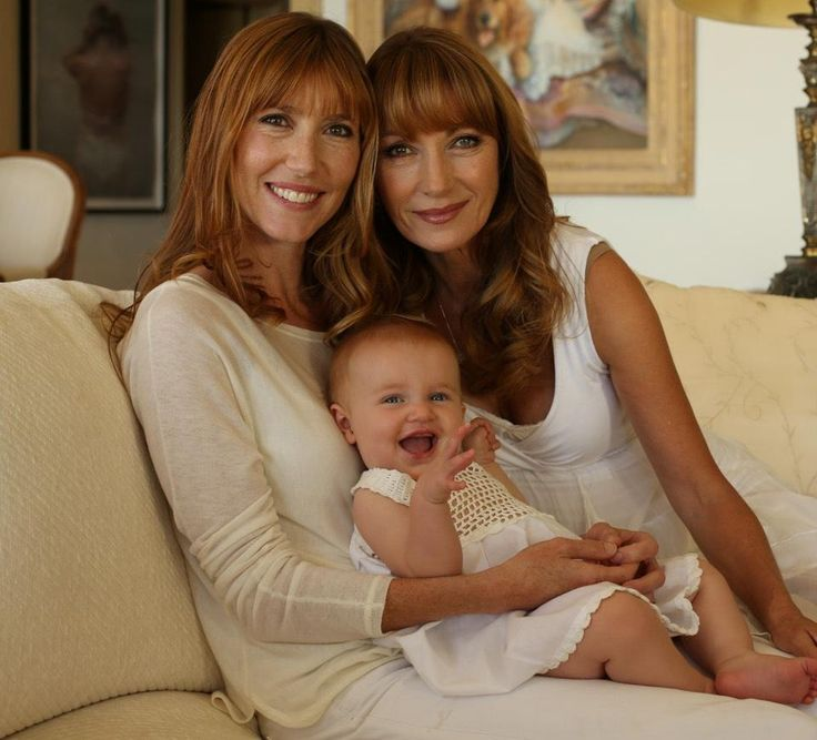 An Adorable Family Photo Of Jane Seymour With Her Daughter