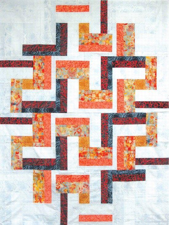 ~ free pattern ~ modern summer quilt at Hoffman Fabrics ...