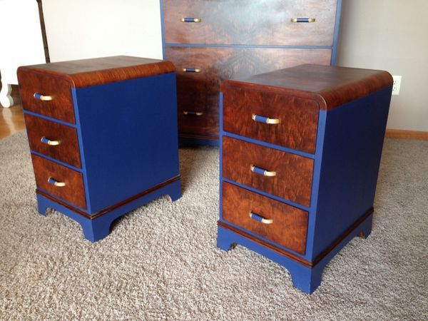Vintage night stands two art deco by dorris heyman furniture in brooklyn park