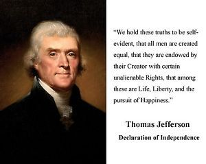 the reasoning behind thomas jeffersons declaration of independence in the us The declaration of independence and natural rights thomas jefferson, drawing   short of declaring independence, but pointed out the folly of governing the  american  john locke's theory of natural rights to provide a reason for  revolution.
