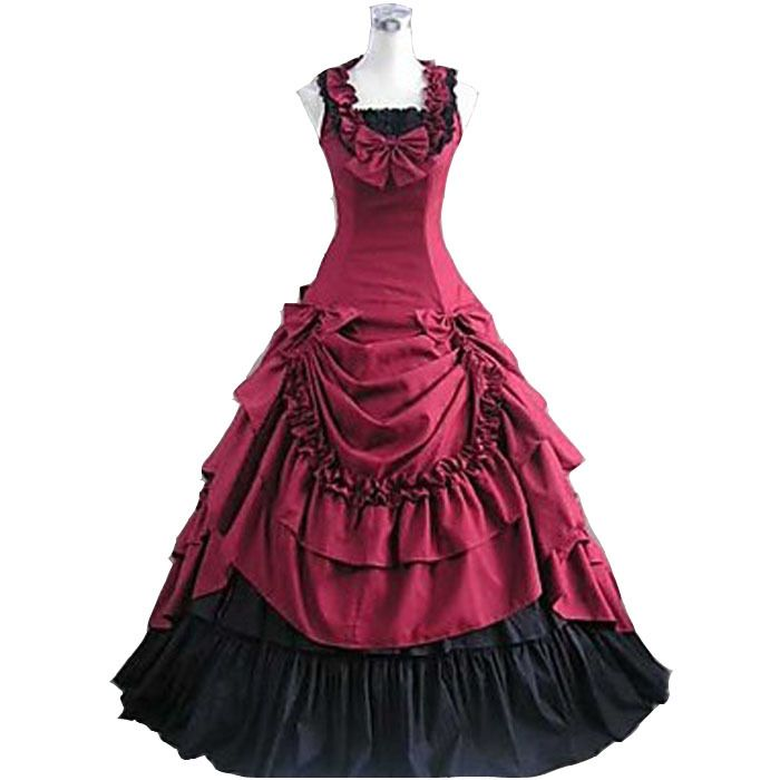 Halloween costumes for women adult princess belle costume southern Victorian Ball Gown Gothic lolita dress custom wholesale