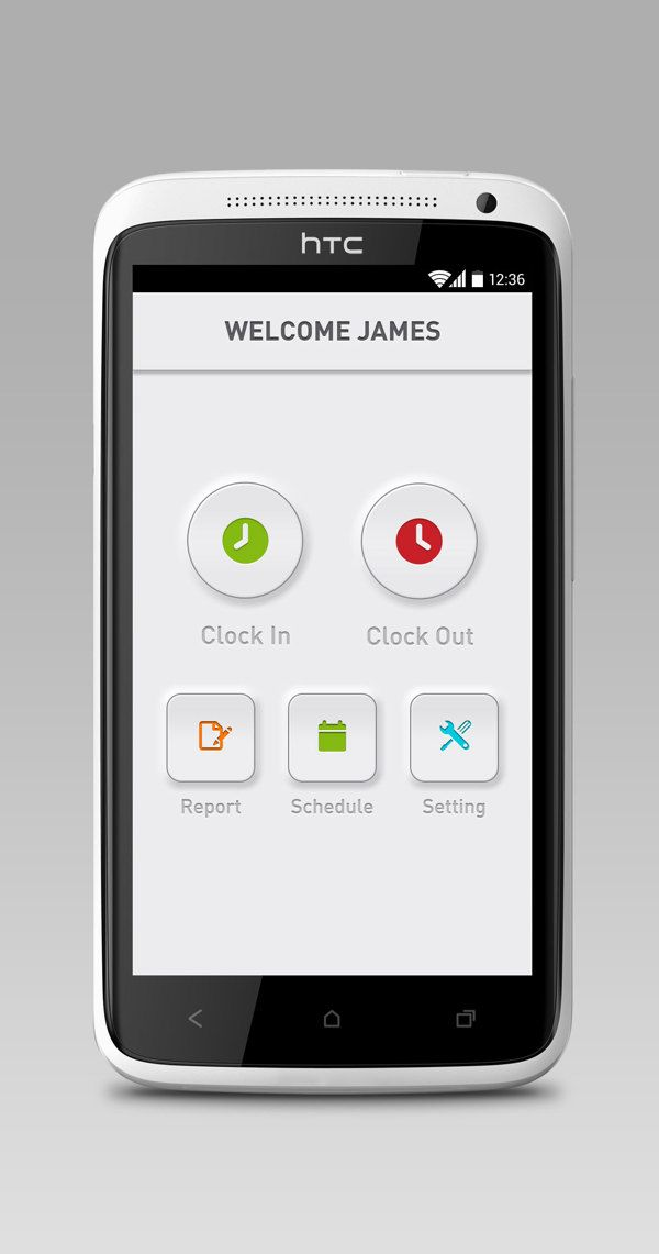 POS App - Android UI design by Jade Choi, via Behance Neat tactile feel to the buttons