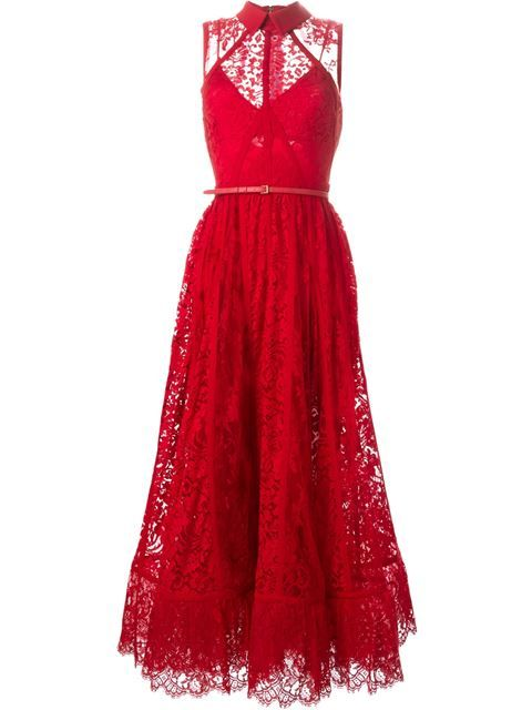 flared lace gown