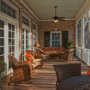 Custom Built Brick and Stucco Home - traditional - porch - charleston - Suiter Construction Company, Inc.
