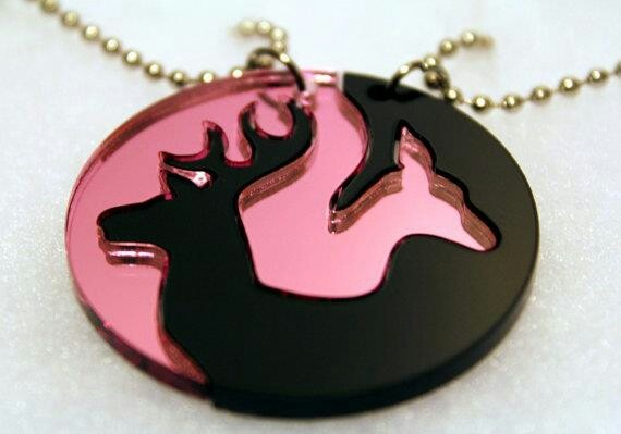 buck and doe necklace jewelry box
