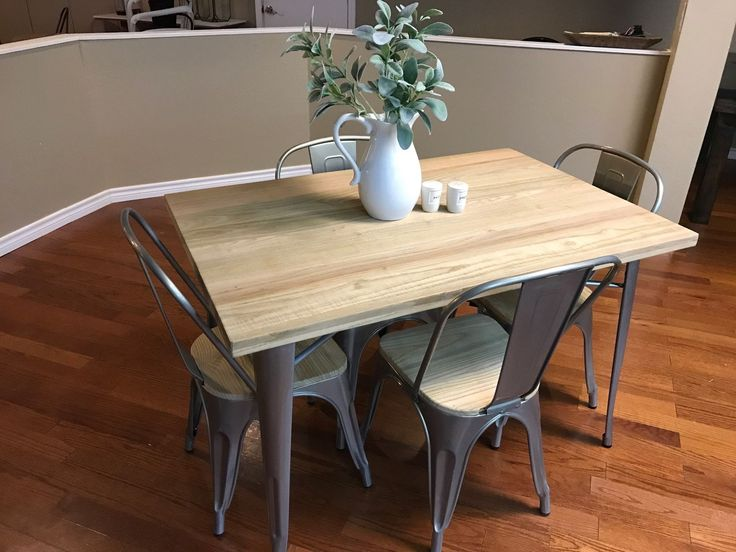 Item specifics     Condition:        New: A brand-new, unused, unopened, undamaged item in its original packaging (where packaging is    ... - #Furniture https://lastreviews.net/home/furniture/industrial-dining-set-5-piece-metal-w-wood-top-galvanized-silver-chairs-table/
