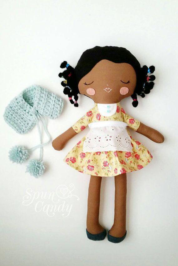Afro-américaine Heirloom qualité Doll SpunCandy par SpunCandy